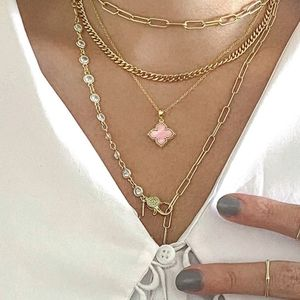 Adornia Mother of Pearl Flower Necklace